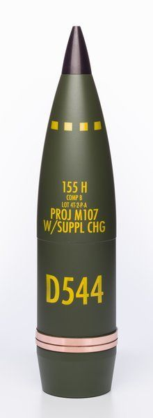 155mm HE round