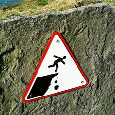 Just a  warning at the Cliffs of Moher.  #Ireland #westclare @claretourism @cliffsofmoher1 #wildatlanticway #wawpics