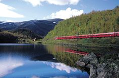 Train from Oslo to Bergen, Norway