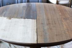 Weathered Oak Dining Table Makeover - Bless'er House Oak Dining Sets, Dining Table Makeover, Antique Dining Tables, Diy Dining Table, Oak Table, Dining Rooms, Refurbished Kitchen Tables, Refinishing Kitchen Tables, Painted Kitchen Tables