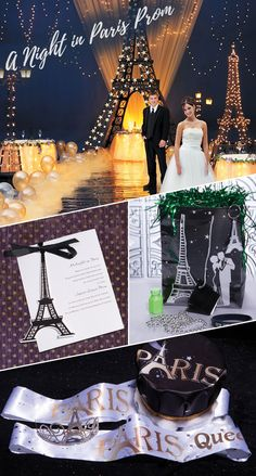 Go overseas for your Prom night and have A Night in Paris Prom theme! This popular foreign destination is a classic Prom theme idea that can be brought to life with lots of fun, unique ideas. From the must-have Eiffel Tower to cobblestone streets and bistros to silly Paris-themed photo props, getting ready for a Parisian themed Prom night is a fun and easy task.