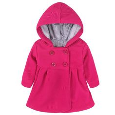 Baby Girl Coat Long Sleeve Cotton Solid Fashion Jackets For Girls Hooded Newborn Windproof Outerwear Baby Clothing Girl Outfits, Fashion Outfits, Jackets Fashion, Fashion Clothes, Girls Black Jacket, Cool Baby Names, Blouse Outfit, Trendy Baby, Funny Babies