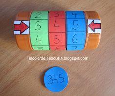 Este material está pensado para que los alumnos/as trabajen la numeración. Es muy sencilla de construir y muy práctica. La pueden construir...