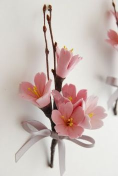 And yes, cherry blossoms make delightful boutonnieres!