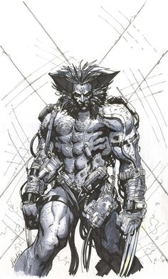Wolverine 'Weapon X' by Carlos D'Anda Comic Book Artists, Comic Book Characters, Marvel Characters, Comic Character, Comic Books Art, Comic Art, Hq Marvel, Marvel Comics Art, Marvel Heroes