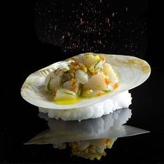 This signature dish is made by Éric Ripert. He's head chef of the restaurant Le Bernardine in New York, USA! We'll see which ranking he'll get next week! @lebernardinny ・・・ Peruvian Style Scallop Ceviche If you also want to get featured and get the opportunity to share your story about your meal at berlinerspeisemeisterei just tag your best dish with #instagramselected and wait for my respond! #fish #wildchefs #theartofplating #food #foodporn #yum #instafood #instagood #photooftheday…