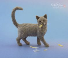Miniature Cat that ate the Canary Sculpture by Pajutee on DeviantArt