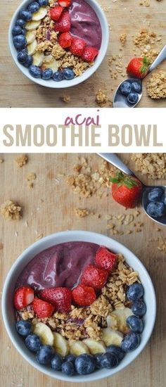 My Current Go-To Acai Smoothie Bowl (customizable recipe) More from my site Chocolate Acai Bowl Acai Smoothie Bowl Acai Bowl Low Cost Acai Bowl Recipe – a delicious superfood smoothie. Tropical Acai Bowls The BEST Acai Smoothie Bowl Recipe Smoothie Bowl Vegan, Smoothies Vegan, Acai Bowl Recipe No Banana, Smoothies Bowl Recipe, Clean Smoothie, Homemade Acai Bowl, Smoothie Detox, Homemade Detox, Smoothie Recipes