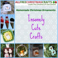 Homemade Christmas Ornaments: 19 Insanely Cute Crafts   Eeeee! These DIY ornaments are the cutest you'll ever find!
