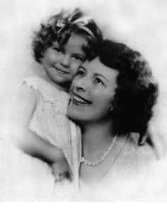 *SHIRLEY TEMPLE: Shirley + her mother, Gertrude Amelia Krieger, whose love of dancing helped shape Shirley's career.