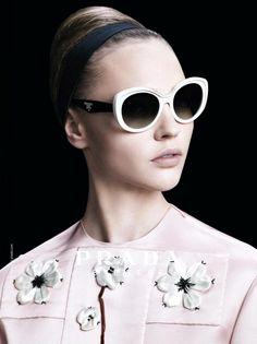 5dcfd1095f9 Sasha Pivovarova for Prada spring summer 2013 eyewear