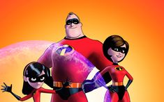 Download wallpapers Violet Parr, Elastigirl, Mr Incredible, 4k, 2018 movie, art, The Incredibles 2