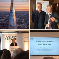 Wake Drinks today attended the Route To Growth Event at the Shard  where I had the pleasure of meeting the Prime Minister's Trade Envoy to ASEAN Richard Graham MP @RTGasia  @HSBCUKbusiness  #CathayRGT17 @RichardGrahamUK Jim James 金宝
