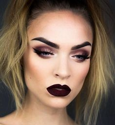 Gorgeous! @moahedstroms in Bloodmoon. #limecrime #velvetines