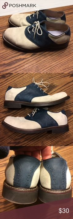 Mens Bass Suede Oxfords - Two tone grey and blue Beautiful size 11m Bass Oxfords. Perfect condition. Bass Shoes Oxfords & Derbys