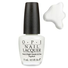 OPI Funny Bunny...the perfect white. not too white and not too sheer. Perfect for your beach vacation. hard to see if it chips a little.