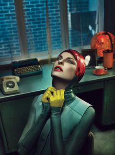 W- Magazine is featuring for the September 2012n issue the supermodel Linda Evangelista. The editorial was photographed by Steven Meisel and styled by Edward Enninful.