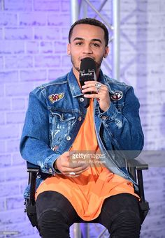 Aston Merrygold speaking at an AOL BUILD series London event at AOL's Capper Street in London. Aston Merrygold, Strictly Come Dancing, Professional Dancers, Louis Vuitton Monogram, London, Celebrities, Building, Street, Fashion