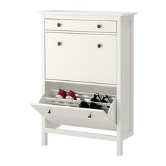 "HEMNES Shoe cabinet with 2 compartments - white, 35x50 "" - IKEA"
