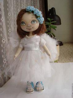Купить Кукла  Ангел - кукла, интерьерная кукла, тильда, подарок, ручная работа, подарок на новый год