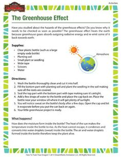 Did you know that the greenhouse effect heats the earth because greenhouse gases absorb outgoing radiative energy and re-emit some of it back towards earth? Learn more here. 6th Grade Science, High School Science, Science Fair, Science Classroom, Teaching Science, Science Activities, Science Ideas, Teaching Ideas, Greenhouse Gases Effect