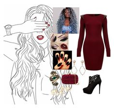 """""""Love In The Dark #Adele"""" by diane-ds ❤ liked on Polyvore featuring AX Paris, Forever New, Alexander McQueen, Gucci, Sara Weinstock, women's clothing, women's fashion, women, female and woman"""