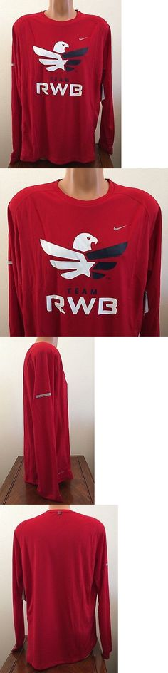 Shirts 59368: Nike Team Rwb Dri-Fit Performance Long Sleeve Running Shirt Red Size Xl 719937 -> BUY IT NOW ONLY: $40.49 on eBay!