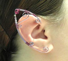 Wire Elf Ear Cuffs   Elven Jewelry  18 Colors by MadeByKozee, $48.00. Can be made in silver and green