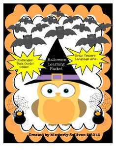 TeacherLingo.com $3.00 -  This Halloween product has math task cards, printables, worksheets, math challenges, and language arts fun!  Great for centers, early finishers, whole class, and small group instruction!  Grades 3,4,5,6