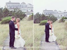 The Wychmere Beach Resort in Harwich, MA on Cape Cod... surrounded by gardens and tall beach grass, this classic Cape Cod wedding venue is stunning.  Photography from a recent rustic wedding there... #wychmere #capecodwedding #wychmerewedding #beachweddingma