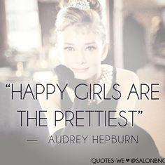 I always knew I liked that Audrey girl.