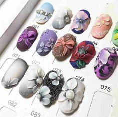 Acrylic Nail Art, Toe Nail Art, Glue On Nails, 3d Nails, Pretty Nail Designs, Nail Art Designs, Nail Set, Flower Nails, Creative Nails