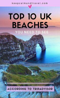 TOP 10 UK BEACHES ACCORDING TO TRIPADVISOR EEVIEWS! #beach #uk #england #scotland #dorset #cornwall #traveltips #keepcalmandtravelblog British Beaches, Uk Beaches, England Beaches, Travel Guides, Travel Tips, Travel Plan, Travel Advice, Beach Uk, Uk Destinations