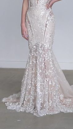 Formal Dresses For Weddings, Bridal Wedding Dresses, Designer Wedding Dresses, Trumpet Style Wedding Dress, Trumpet Dress, Beaded Wedding Gowns, Galia Lahav, Ball Gowns, Dress Attire