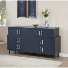Navy Empire 6-drawer Dresser - 80008373 - Overstock.com Shopping - Great Deals on I Love Living Dressers