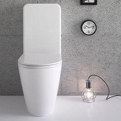 Toalettstol Globo Forty3 6-FO003.BI 6-FO003.BI Open Fireplace, Store Interiors, Matcha, Toilet, Sconces, Wall Lights, Lighting, Design, Home Decor
