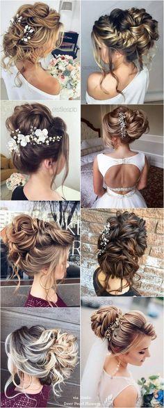 Elstile Long Wedding Hairstyle Inspiration / www.Elstile Long Wedding Hairstyle Inspiration / www. Wedding Hairstyles For Long Hair, Wedding Hair And Makeup, Bride Hairstyles, Headband Hairstyles, Bridal Hair, Hair Wedding, Hairstyle Ideas, Elegant Wedding Hair, Wedding Hair Inspiration