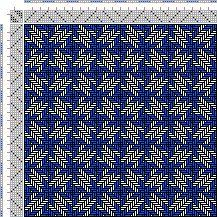 Drawdown Image: Figurierte Muster Pl. XXXVI Nr. 8, Die färbige Gewebemusterung, Franz Donat, 6S, 6T