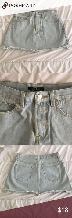 Light wash denim skirt Size medium Brandy Melville Skirts
