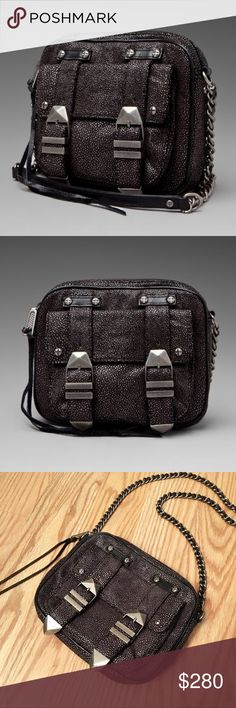 """REBECCA MINKOFF stingray boyfriend Crossbody bag REBECCA MINKOFF boyfriend Crossbody bag 