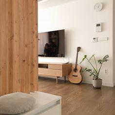 [시공사례] 철산 두산위브 / 24평 / 구정 브러쉬골드 애쉬브라운 / 따뜻한 우드 포인트 인테리어 / interior by 카멜레온 디자인 : 네이버 블로그 Floating Nightstand, My Room, Modern Contemporary, Tall Cabinet Storage, Interior, Table, House, Furniture, Rooms