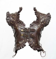Brown leather Steampunk Vest fairy tale style fantasy fashion #UNIQUE_WOMENS_FASHION - What more to say other than we just LOVE cool stuff! Check out our store for even more unique & COOL stuff! <3