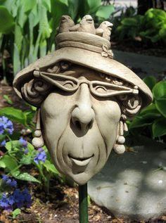 1164 Grandma Nature #carruth #face #grandma #woman #garden #plaque #weatherproof #handmade #USA