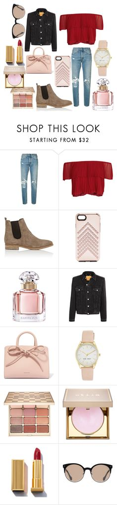 """City life 🌃"" by lucy-clark9 ❤ liked on Polyvore featuring Levi's, Keepsake the Label, Barneys New York, Rebecca Minkoff, Guerlain, Balenciaga, Mansur Gavriel, Nine West and Stila"