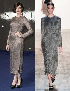 S/S 2015: Celebrities wearing the trends straight off the catwalk   Fashion, Trends, Beauty Tips & Celebrity Style Magazine   ELLE UK Anne Hathaway wears Wes Gordon s/s 2015 to the Interstellar premiere in London, October 2014.