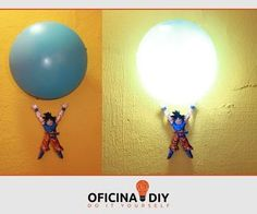 How to Make Luminaire genki dama Goku - DBZ - My name is Emerson Pedroso, I am creator of the YouTube channel Oficina DIY.Learn how to make a lamp from the Genki Dama Goku: D, it is very easy to do and is very top in the room.I guarantee that anyone who is a fan will not even waste time and will make right now the luminaire.The Channel DIY... | http://wp.me/p5qhzU-3xy | #DIY #DoItYourself