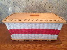 Cute Vintage Woven Sewing Box - Vintage Tweaks Ebay Shop