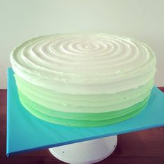 Mint green ombre cake