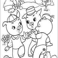 Three Little Pigs Coloring Page Disney Coloring Pages Three Little Pigs Coloring Pages Three Little Pigs Little Pigs Coloring Pages