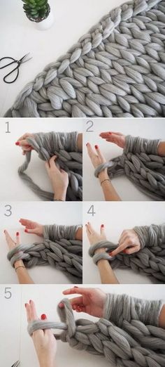 DIY Knit a chunky blanket from wool roving 17 Cozy DIY Projects to Keep You Warm This gemütliche DIY-Projekte, um Sie diesen Winter warm zu halten - Diy and Crafts YazYaz.Want to stay warm this winter? Try making some of these easy DIY proj Knitting Projects, Crochet Projects, Sewing Projects, Knitting Tutorials, Knitting Ideas, Mason Jar Diy, Mason Jar Crafts, Roving Wool, Wool Felt